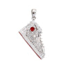 Shoe Women's Pendant with diamonds in 14K White Gold