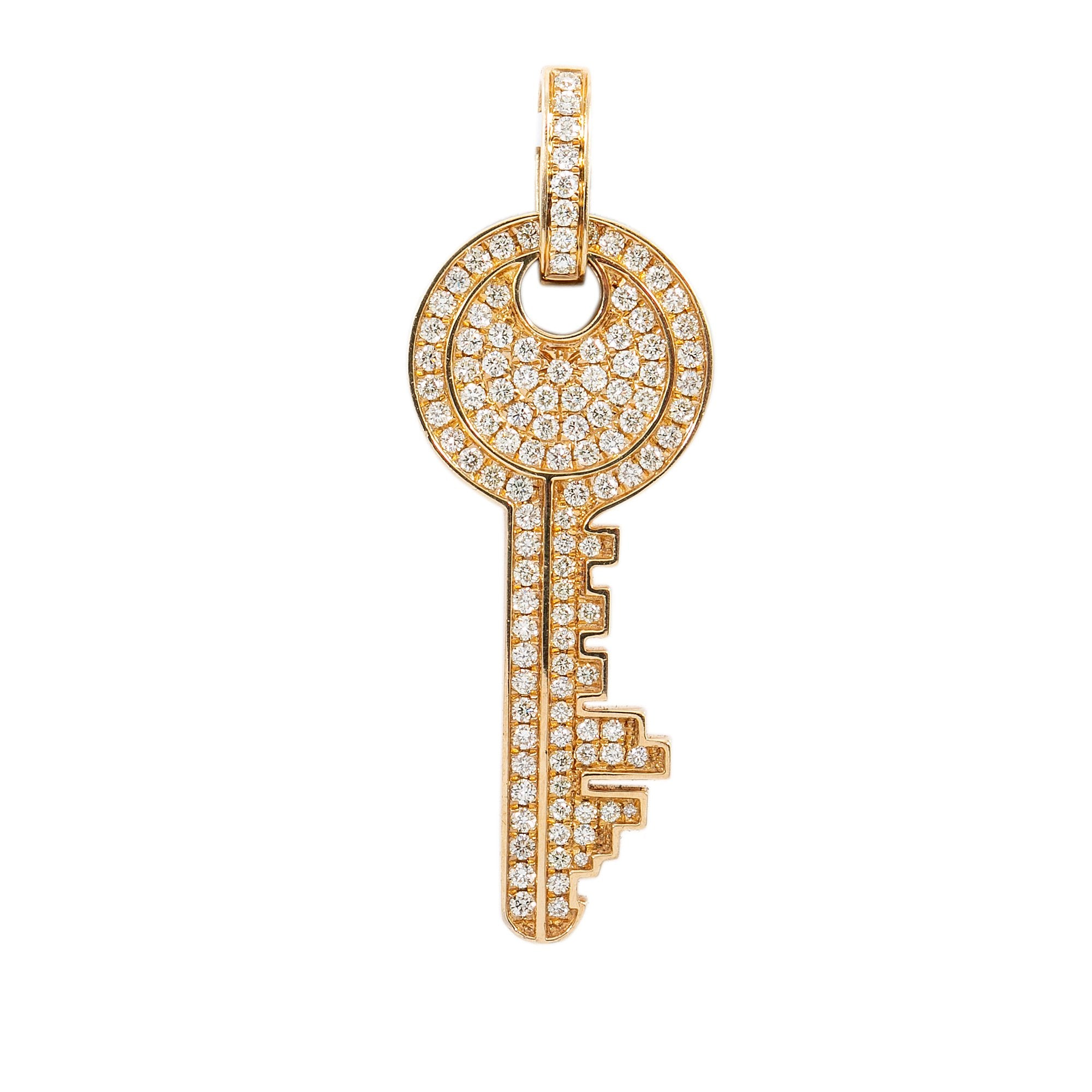14K Yellow Gold Pendant with 1.61 CT Diamonds