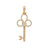14K Yellow Gold Pendant with 1.20 CT Diamonds