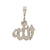 "Men's 14K White Gold ""Allah"" Pendant with 0.85 CT Diamonds"