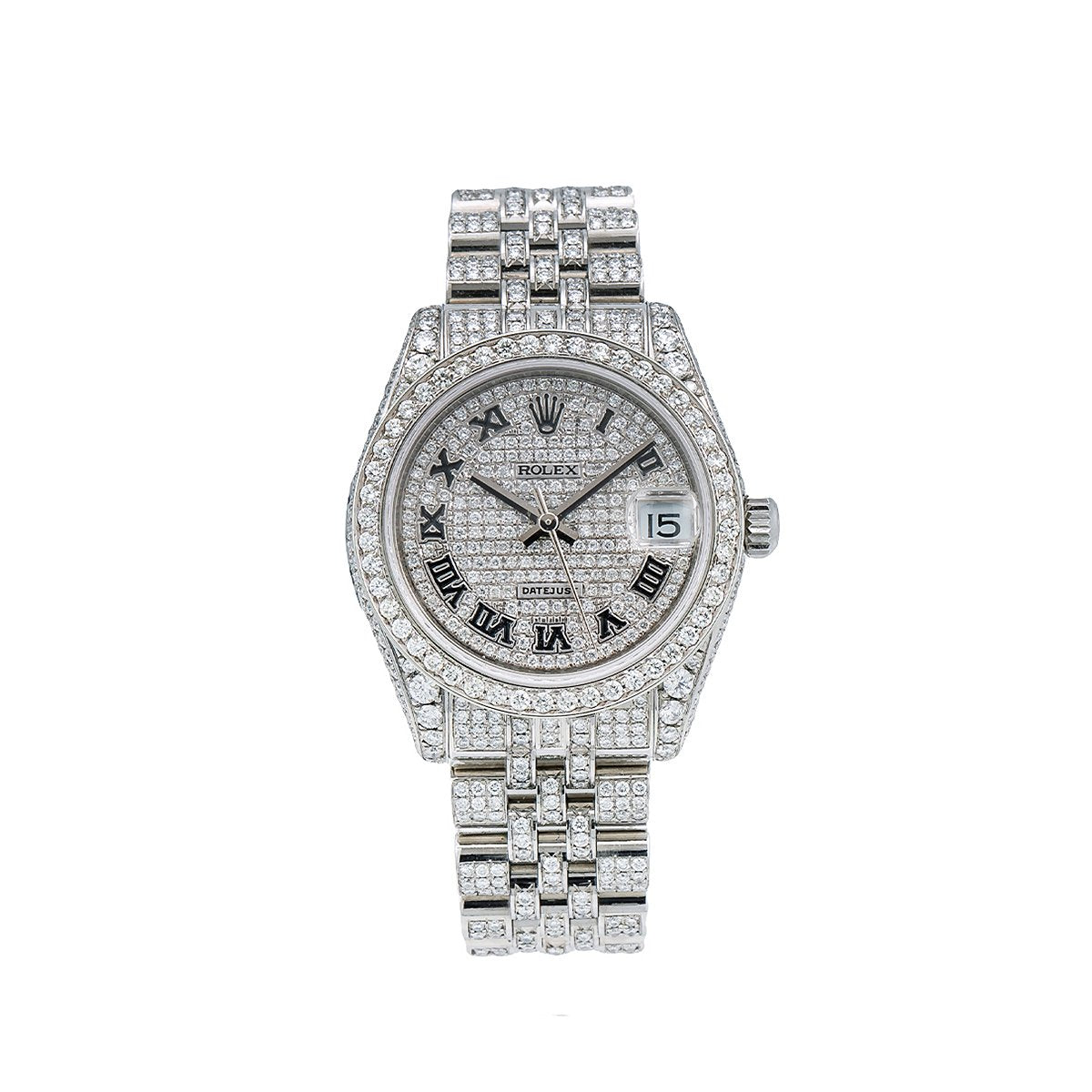 Rolex Datejust Diamond Watch, 178274 31mm, White Diamond Dial With Stainless Steel Jubilee