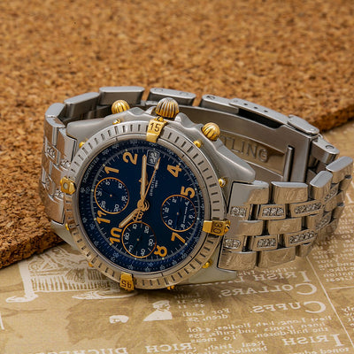 Breitling Blackbird B13350 40mm Blue Dial With Stainless Steel Bracelet