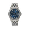 Rolex Datejust 16014 36MM Blue Diamond Dial With 1.20 CT Diamonds