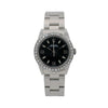 Rolex Oyster Perpetual 77080 31MM Black Dial With 0.90 CT Diamonds