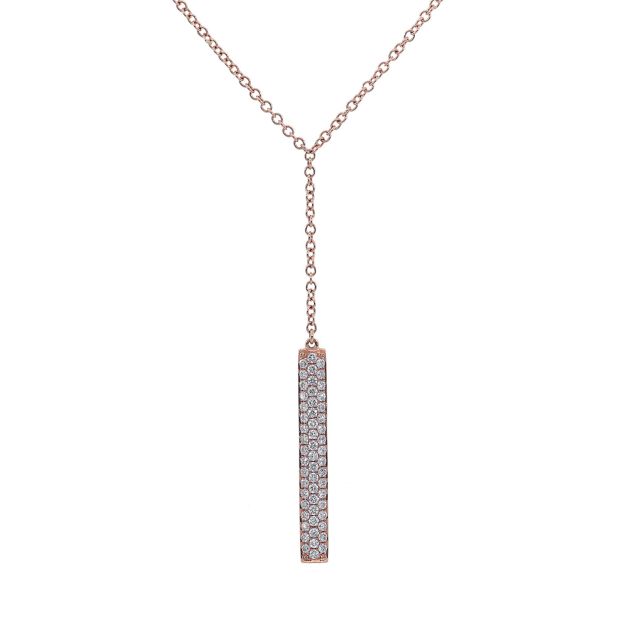 18K Rose Gold Women Rectangular Shaped Necklace