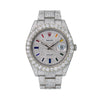 Rolex Datejust II 116300 41MM Rainbow Custom Diamond Dial With 22.75 CT Diamonds Flower Setting