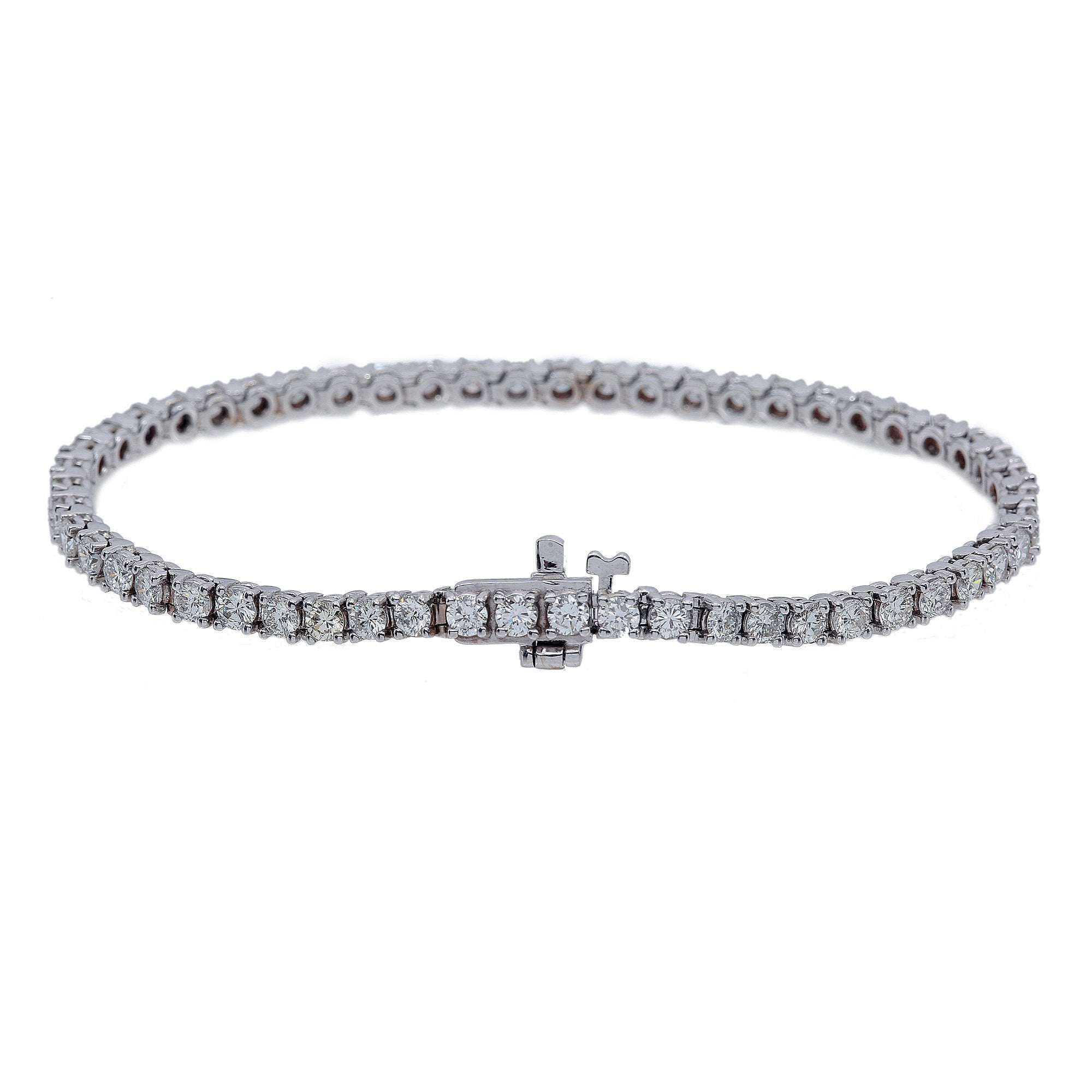 14K White Gold Women Bracelet