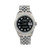 Rolex Oyster Perpetual Datejust 16014 36MM Black Diamond Dial With 1.40 CT Diamonds