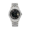 Rolex Oyster Perpetual Datejust 16014 36MM Black Diamond Dial With 3.25 CT Diamonds