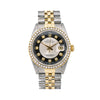 Rolex Datejust 16013 36MM Black Diamond Dial With 1.20 CT Diamonds