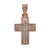 14K Rose Gold Cross Shaped Pendant