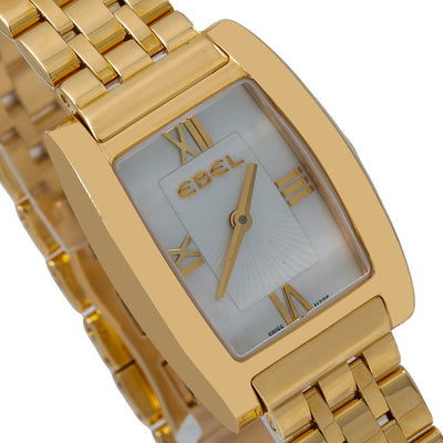 Ebel Tarawa E8656J11 31MM White Dial With Yellow Gold Bracelet