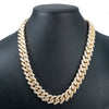 14K Yellow Gold Iced Out Diamond Cuban Link Chain | 34.68 Carats | 16 Mm Width | 24 Inch Length