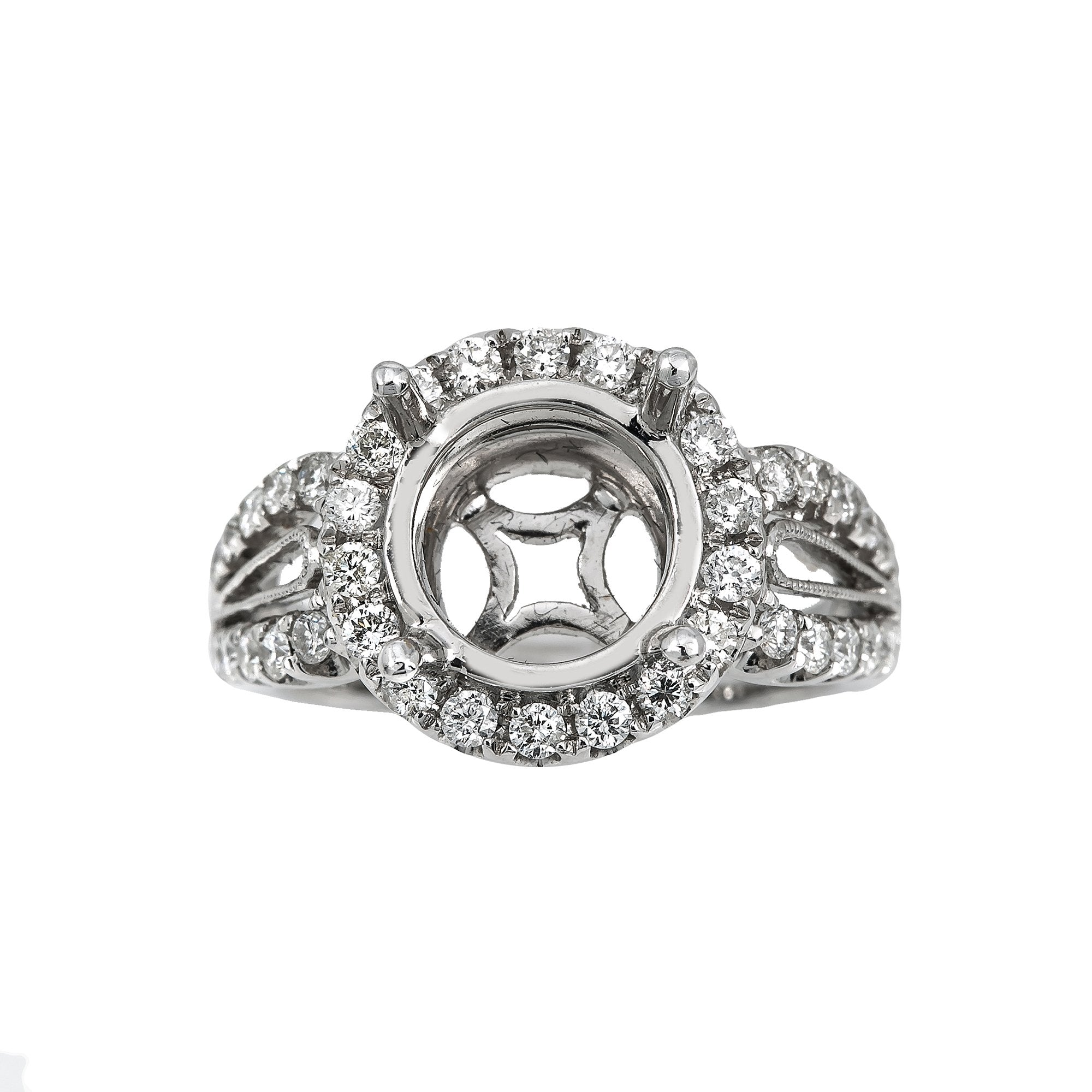 18K White Gold BJ8143R1 Women's Ring With 0.83 CT Diamonds