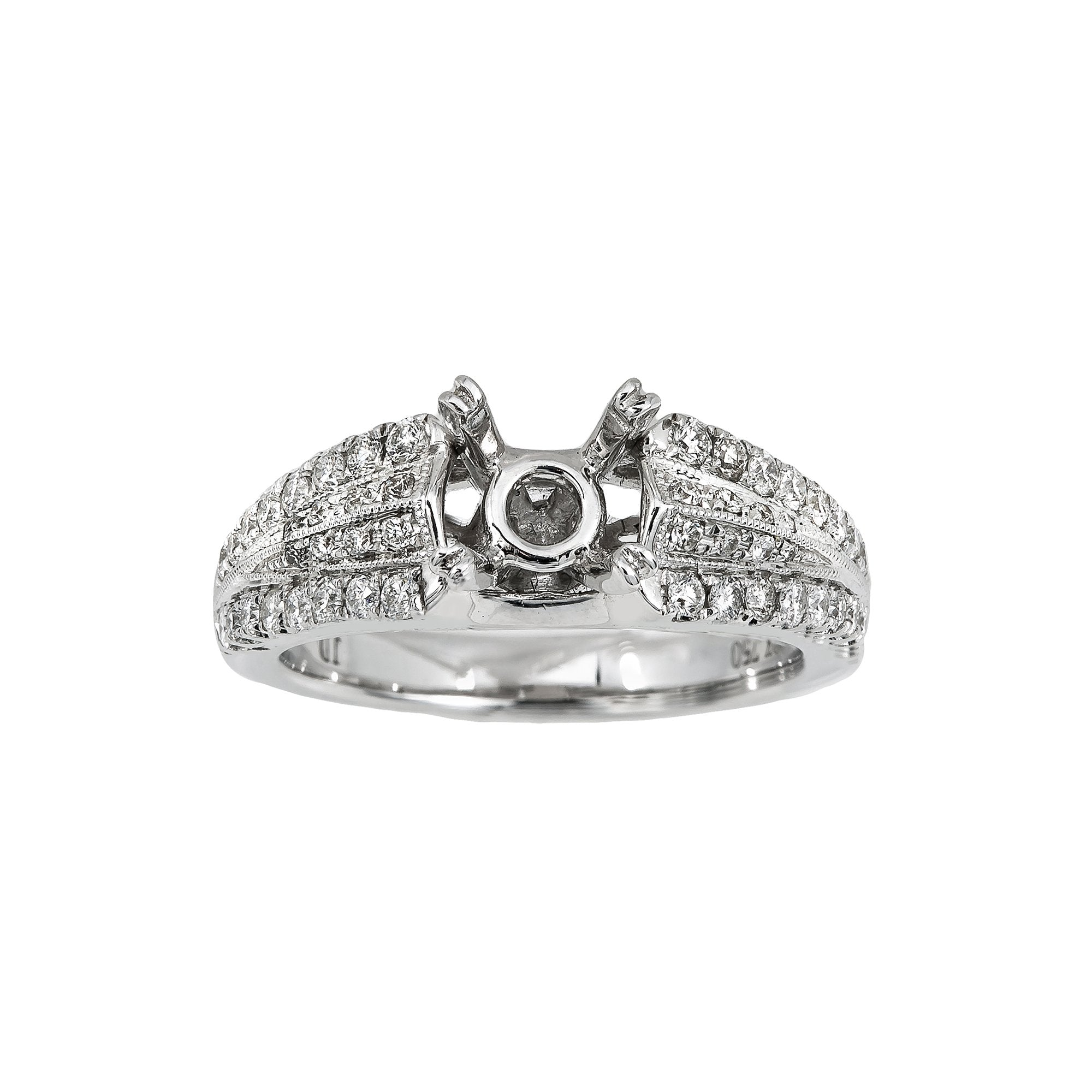 18K White Gold BJ7694R1 Women's Ring With 0.52 CT Diamonds