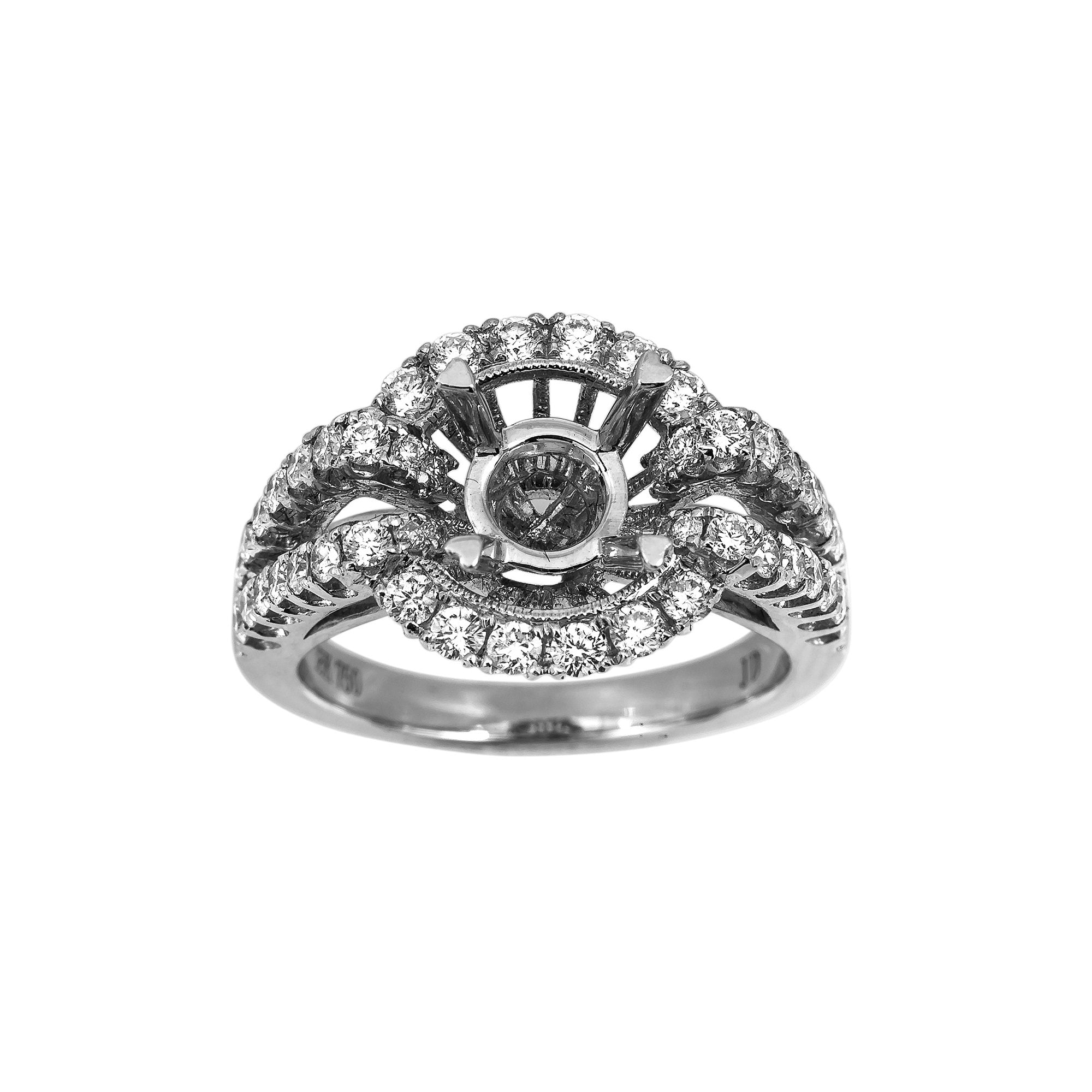 18K White Gold BJ126R2 Women's Ring With 2.00 CT Diamonds