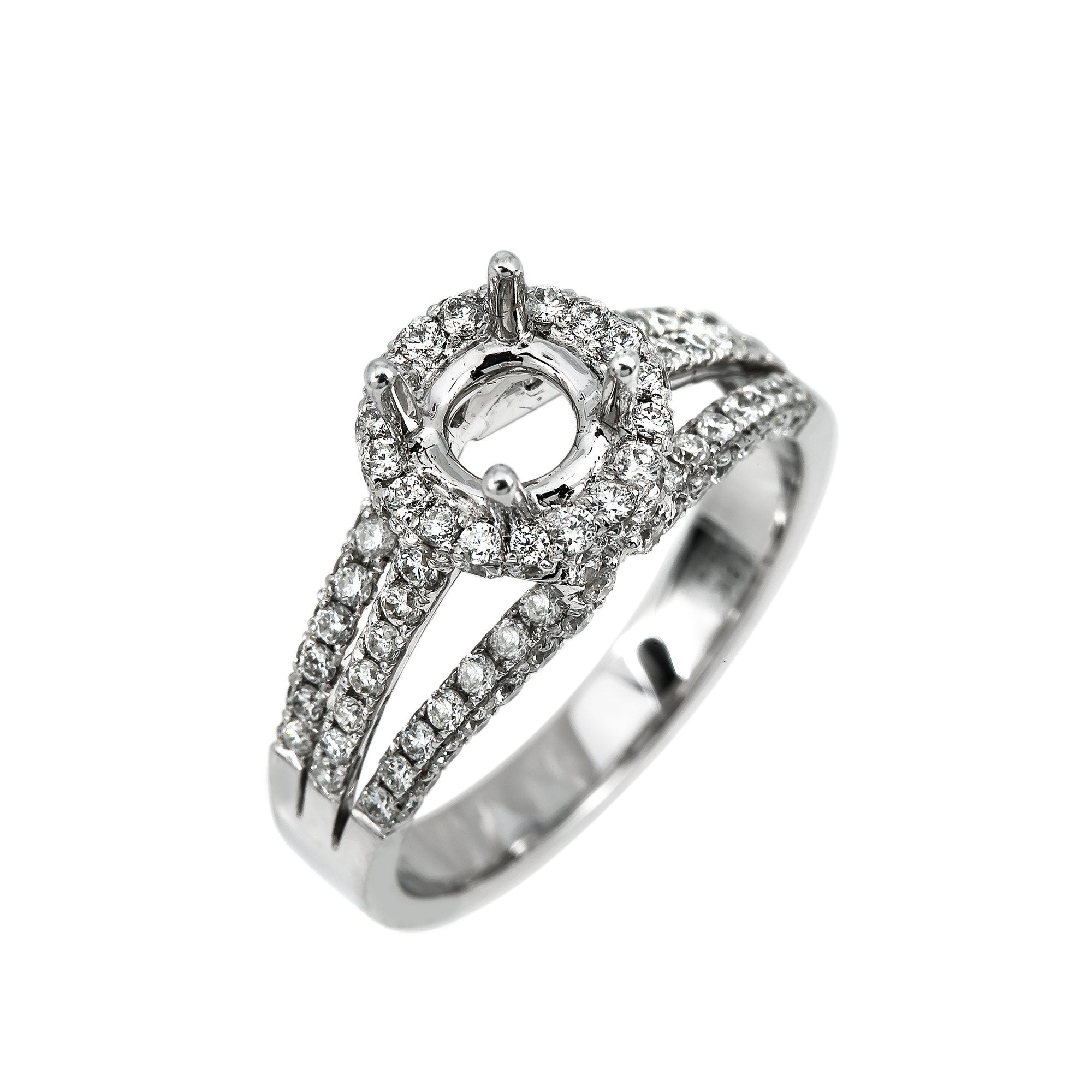 18K White Gold Women's Ring With 1.19 CT Diamonds
