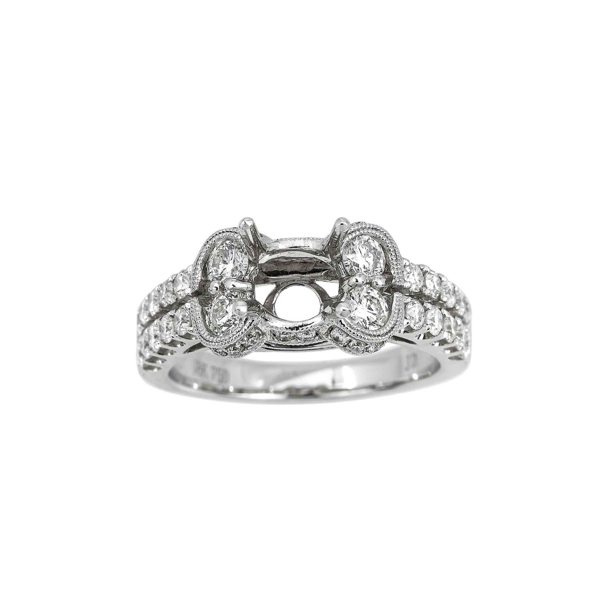 18K White Gold BJ7231R1 Women's Ring With 1.30 CT Diamonds