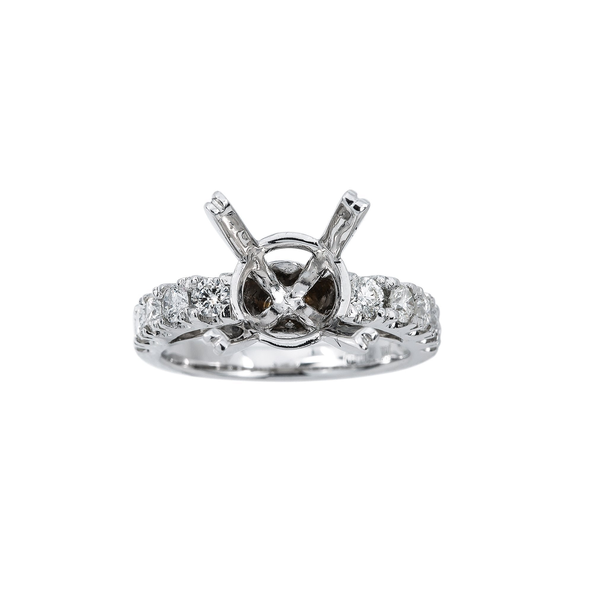 18K White Gold BJ8415R4 Women's Ring With 0.86 CT Diamonds