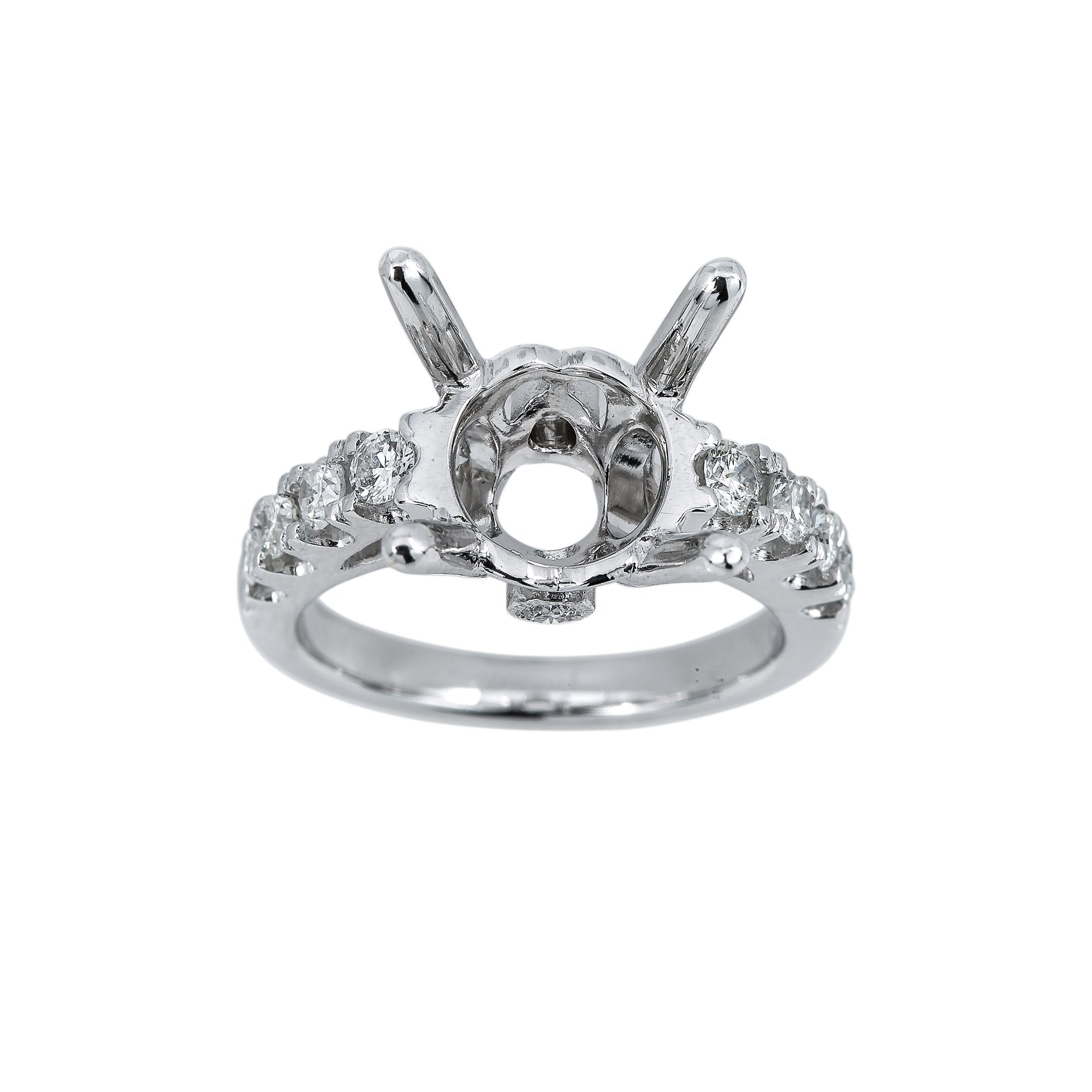 18K White Gold BJ7348R3 Women's Ring With 0.56 CT Diamonds