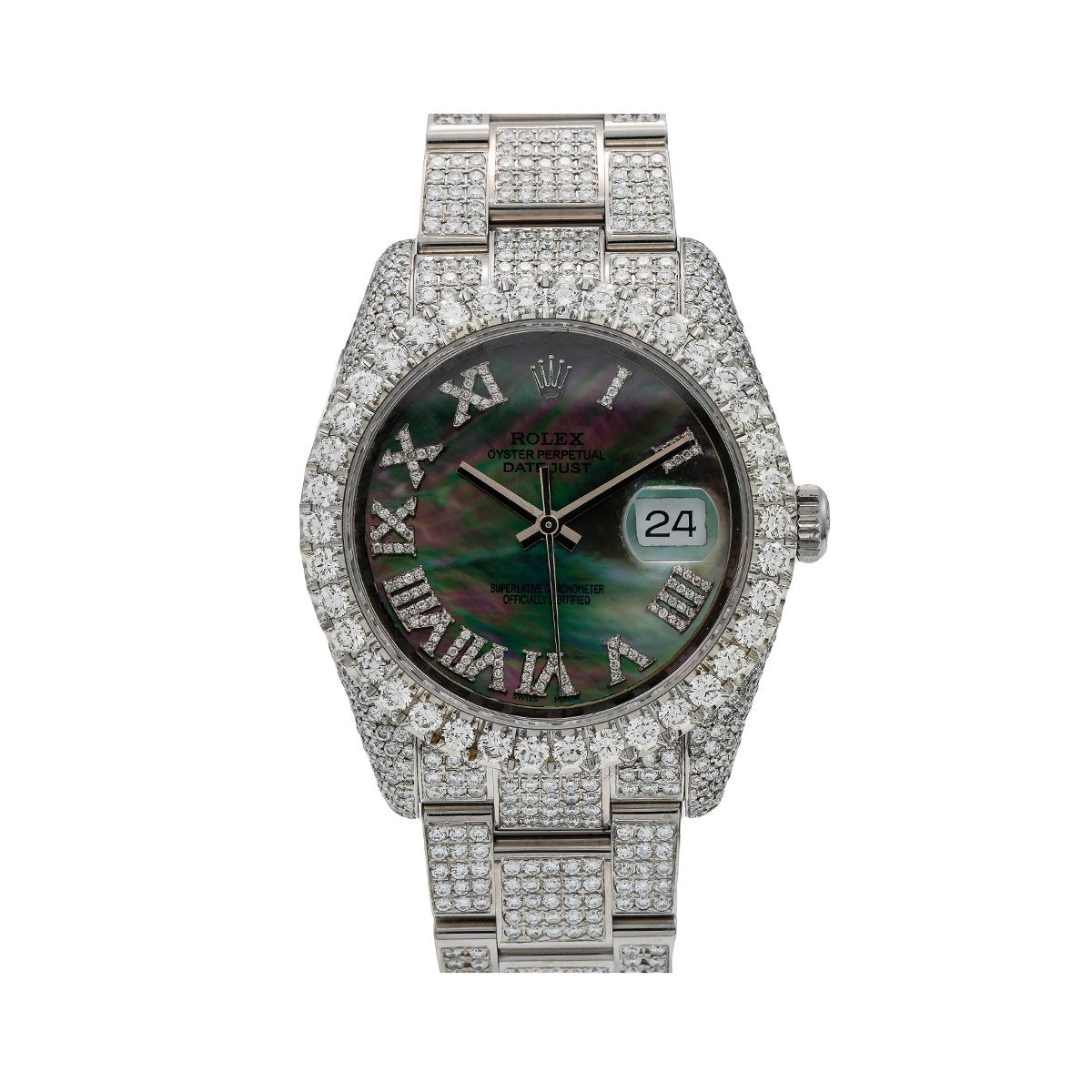 Rolex Datejust Diamond Watch, 116234 40mm, Mother of Pearl Dial With 12.05 CT Diamonds