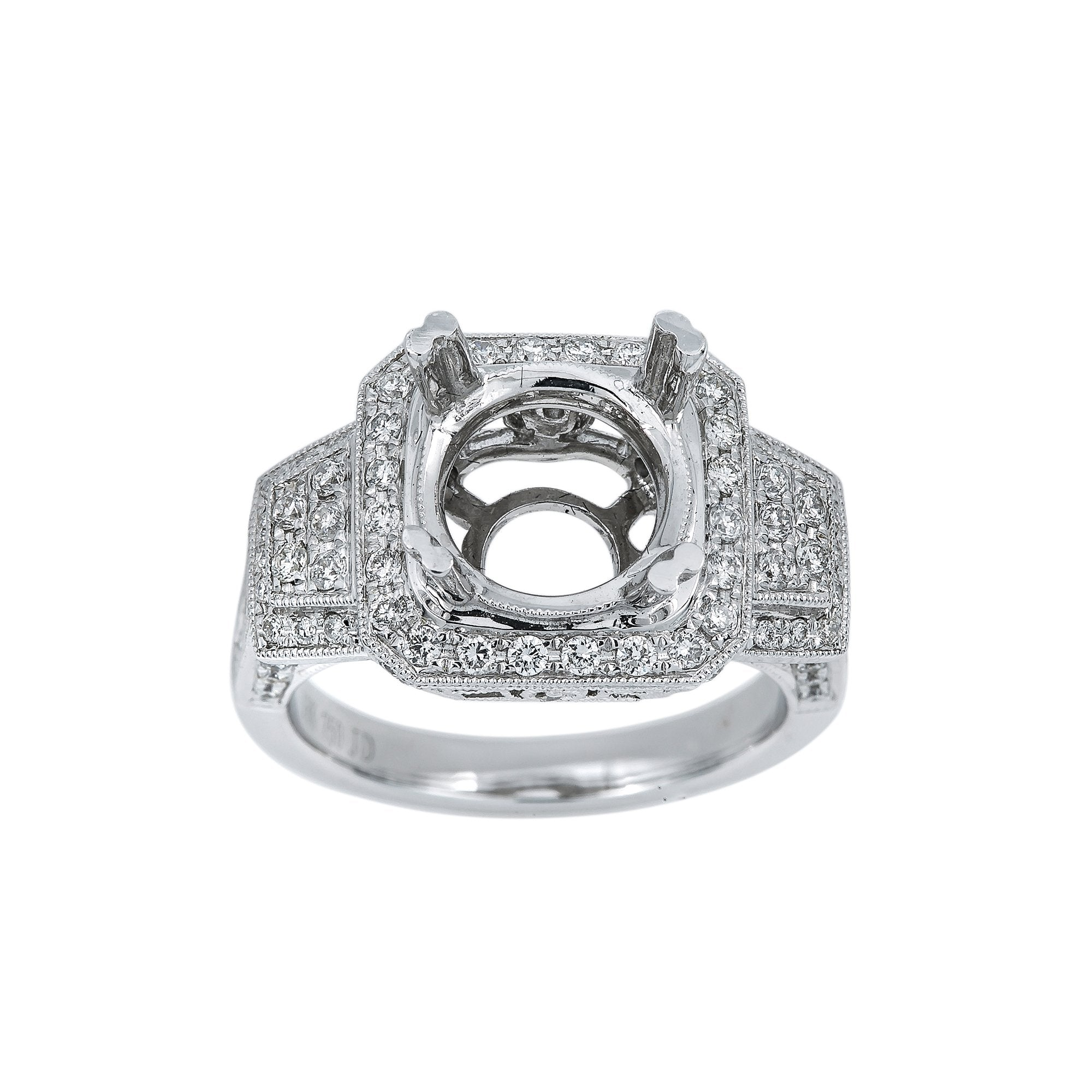 18K White Gold BJ6336R1 Women's Ring With 1.10 CT Diamonds