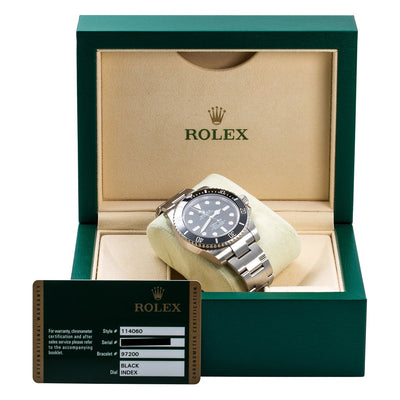 Stainless Steel Rolex Submariner 114060 40mm Black Dial