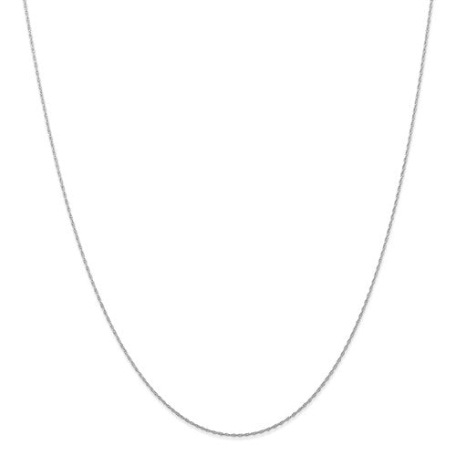 "10k White Gold .5 mm Carded Cable Rope Chain Available Sizes 16""-24"""