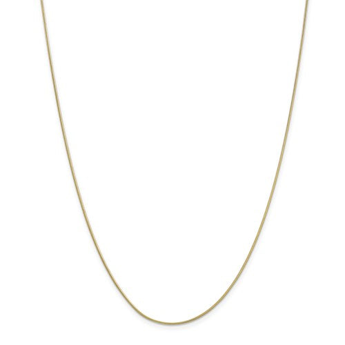 "10k Yellow Gold .90mm Round Snake Chain Available 16""-24"""
