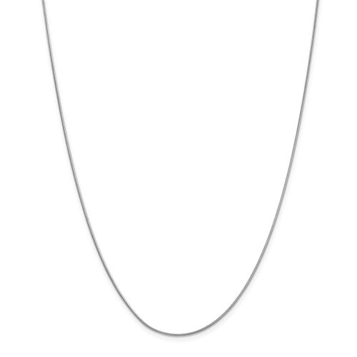 "10k White Gold .90mm Round Snake Chain Available Sizes 16""-24"""
