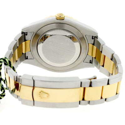 18K Yellow Gold Rolex Datejust II Diamond Watch, 41mm, Grey Dial and Stainless Steel and 4.72CT Diamond Bezel