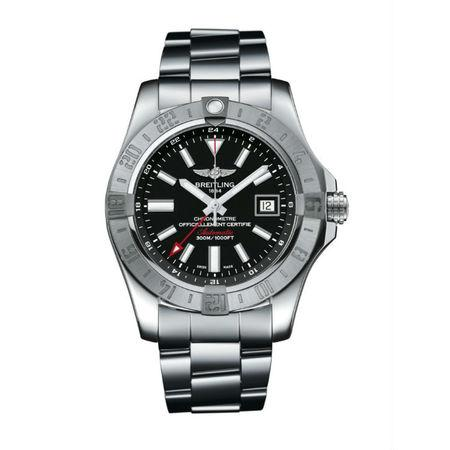Breitling Avenger II GMT 42MM A32390111B1A1 Stainless Steel Case and Bezel with Stainless Steel Bracelet