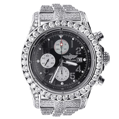 Breitling Super Avenger Stainless Steel with Diamonds