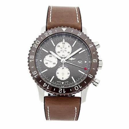 Breitling Chronoliner 45MM Y2431012-BE10 Stainless Steel Case with Leather Strap