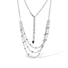 White Gold Multi-Strand Necklace with Diamonds