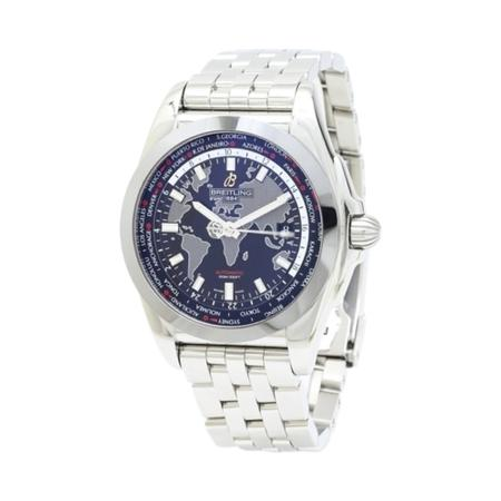 Breitling Galactic Unitime WB3510U4 Stainless Steel with Leather Strap