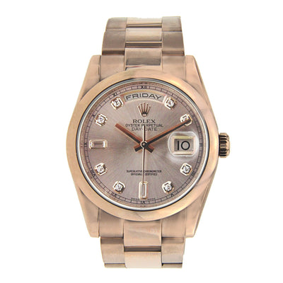 Rolex Oyster Perpetual Day Date President Rose Gold Oyster Band 36MM  118205