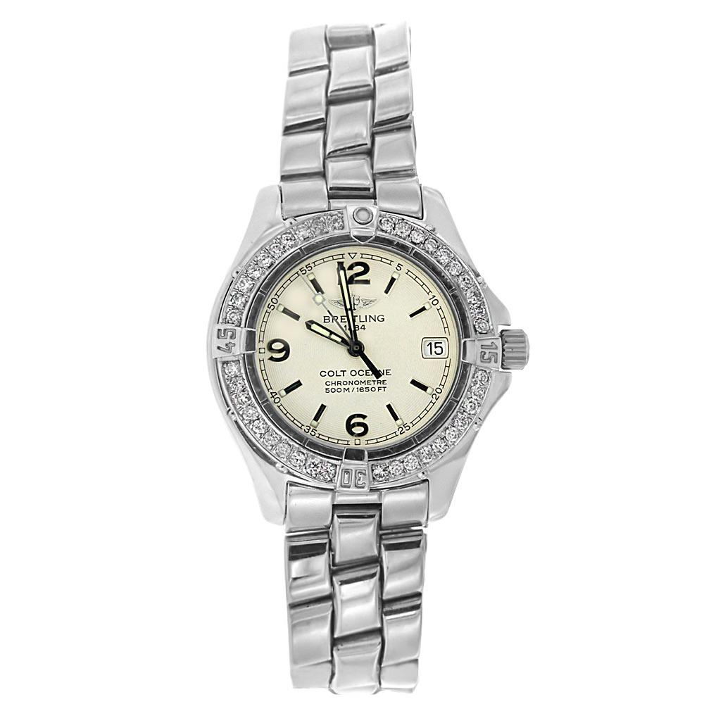 Breitling Colt 33mm with Diamond Bezel