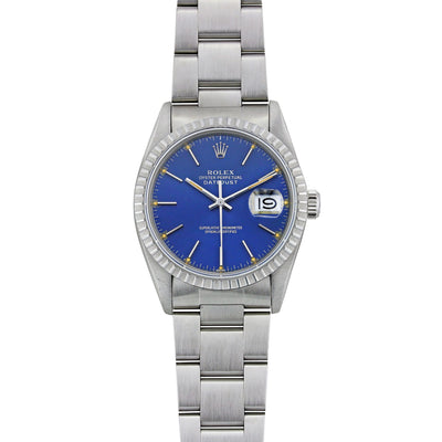 Vintage Rolex Datejust Stainless Steel with Blue Dial 16013