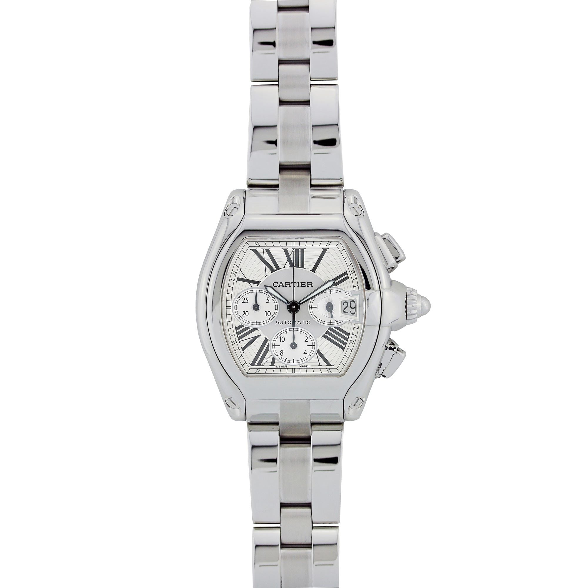 Cartier Roadster 48MM Stainless Steel W62019X6