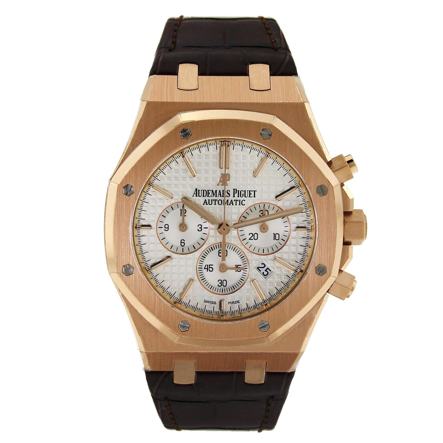Audemars Piguet Royal Oak Chronograph with Brown Leather Strap 26320OR.OO.D088CR.01