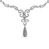 18K White Gold Necklace with Round Cut Diamonds 4.00CT