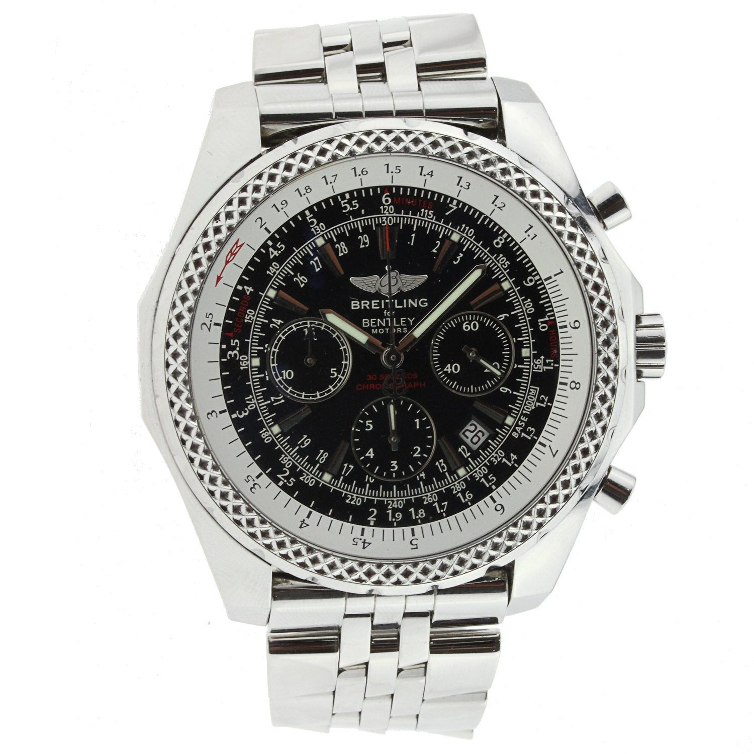 Breitling for Bentley Motors Stainless Steel with Black Dial