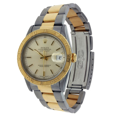 Vintage Rolex Oyster Perpetual Datejust Two Tone with Index Markers 36mm 16263