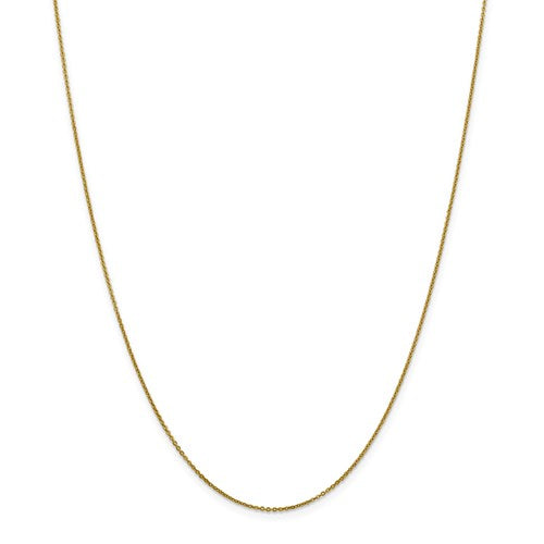 "10K Yellow Gold 1.1 mm Flat Cable Chain Available Sizes 16""-24"""