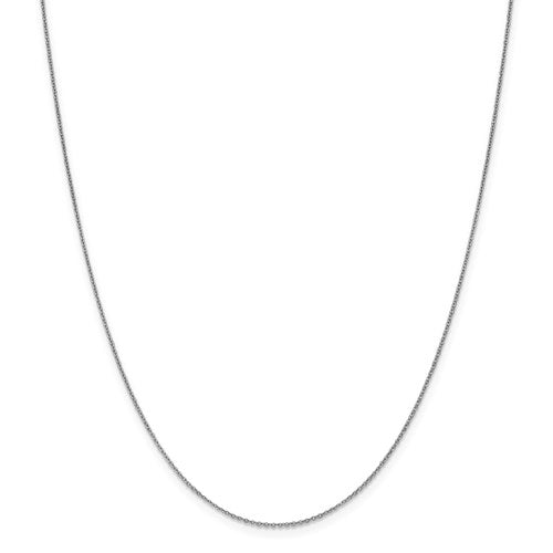 "10K White Gold 1.1 mm Flat Cable Chain Available Sizes 16""-24"""