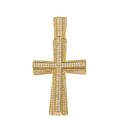Yellow Gold Cross with Diamonds