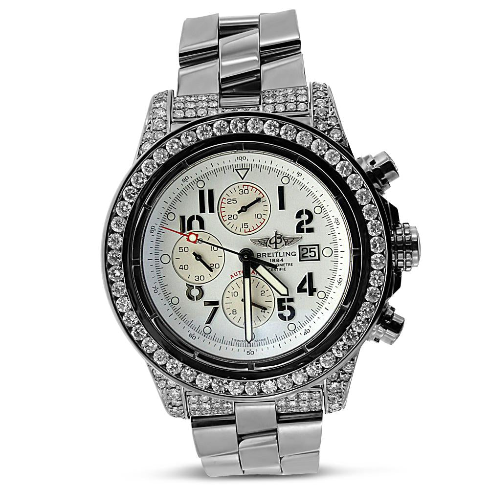 Breitling Super Avenger with Diamond Bezel