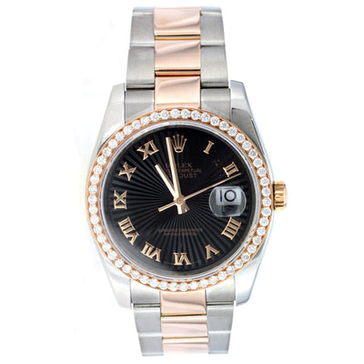 Rolex Oyster Perpetual Datejust Rose Gold and Stainless Steel 36MM 116201