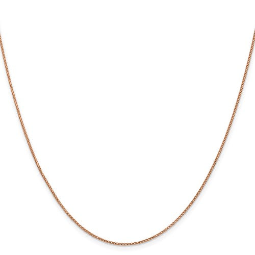 "14K Rose Gold .95 mm Open Franco Chain Available in Sizes 16""-24"""